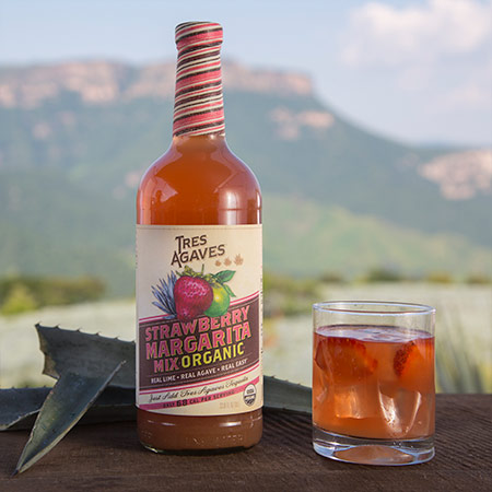 Organic Strawberry Margarita Recipe Tres Agaves Tequila Made In Tequila